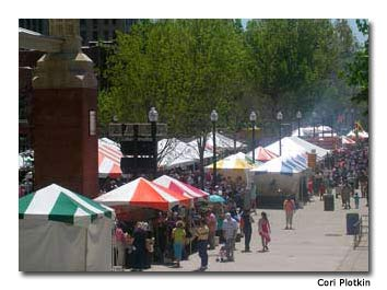 The festival draws visitors from all over.