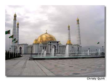 Gypjak Mosque in Turkmenbashi's hometown..