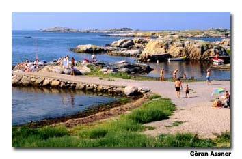 Sweden's west coast has beautiful seascapes of granite skerries and islands.