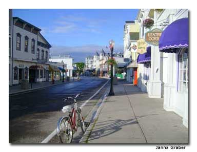 The streets of Mackinac Island are perfect for biking.