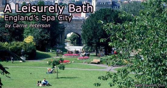 Bath is a relaxing place to be.