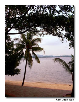 A view of the Straits of Johor from Sembawang Park.