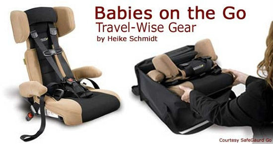 There are innovative tools on the market to help make your trip with your young one a breeze. Photo by SafeGuard Go