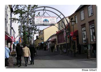 Shopping is one activity in Iceland.