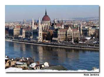 Budapest's Parliament building is a great sight for architecture enthusiasts.