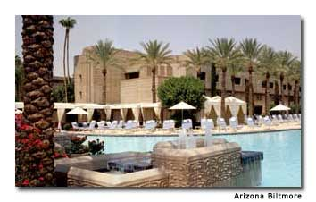 With the warm winter climate in Phoenix, it's easy to spend lots of time in the resort's massive Paradise Pool.