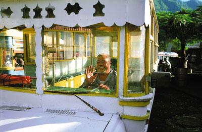 Bus driver in Samoa