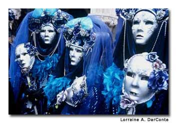 It's traditional for friends to dress alike for Carnivale.