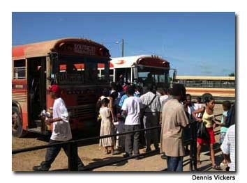 Many towns and villages throughout Belize are accessible by bus from San Ignacio.