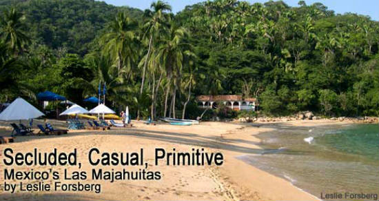 This beach is a secluded paradise.