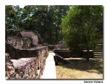 Cahal Pech, an ancient Maya ruin, sits atop a steep hill in San Ignacio.
