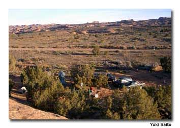 The Sand Flats Recreation Area, southeast of downtown Moab, offers cheap camping.