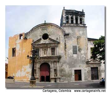The newly renovated church of Santo Domingo, the oldest church in the city, was built in 1539.