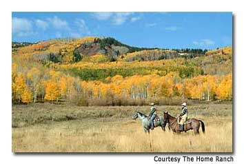 The lodge has an extensive riding program, with excursions for all levels.