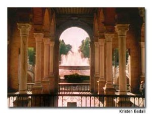 The Plaza De Espana is just one example of the architecture.
