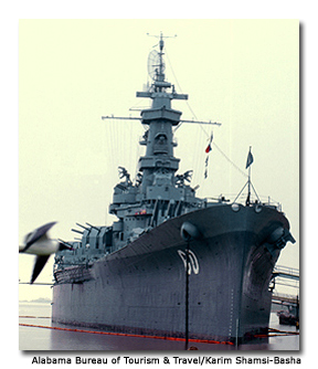 The USS Alabama was home to nearly 2,500 men.