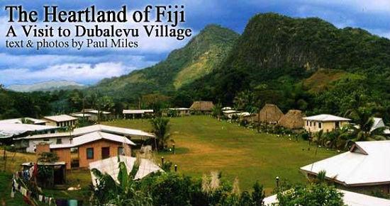 Dubalevu Village sits alongside the Sigatoka River.