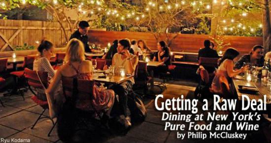 The raw food vegan restaurant makes eating healthy decadent.