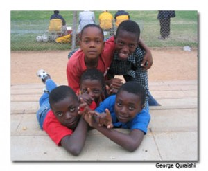 Boys in Zimbabwe
