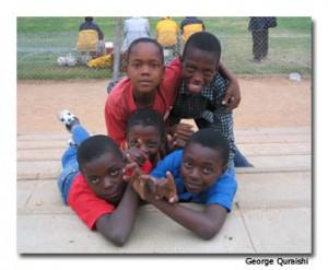 Boys in Zimbabwe