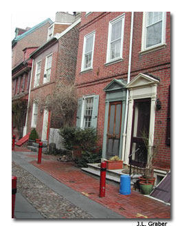 Travel takes you down unexpected roads, such as Elfreth's Alley in Philadelphia.