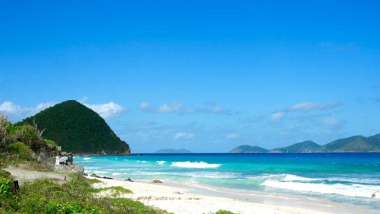 Beautiful beaches in the British Virgin Islands