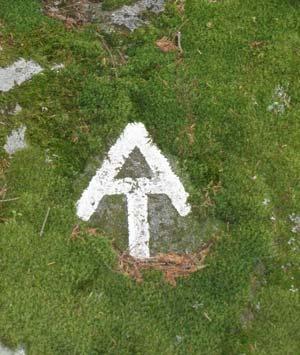 Marker on the Appalachian Trail