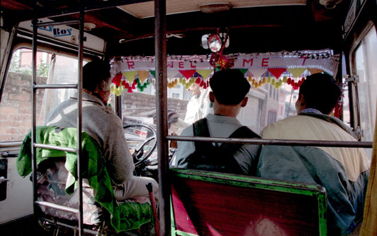 Bus driver in Nepal. Photo by Dave Underwood and Karen Windle