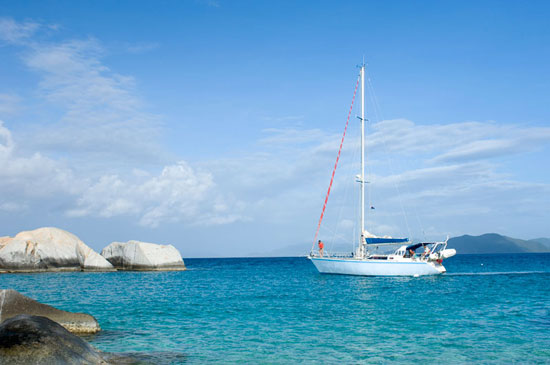 Sailing in the British Virgin Islands. Photo by BVI Tourism