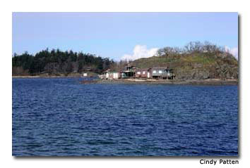 Rocky outcroppings with historic shacks clinging to them in Piper's Lagoon are called Shack Islands.
