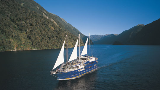 The Fiordland Navigator offers overnight cruises on Doubtful Sound in New Zealand. Photo by Real Journeys