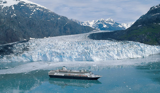 Holland America Line provides a stunning view of Glacier Bay, Alaska.
