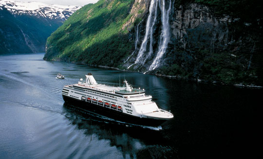 The ms Maasdam cruises through the Norwegian Fjords. Photo by Holland America Line