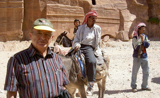 I was determined to get to the top. A donkey offered a possible solution. Photo by Habeeb Salloum