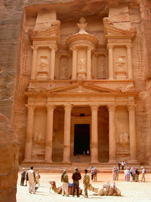 The famous Treasury of Petra