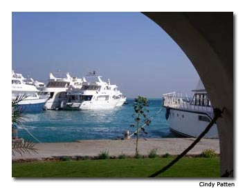 Fabulous yachts wait to take vacationers on diving and snorkeling cruises of the Red Sea.