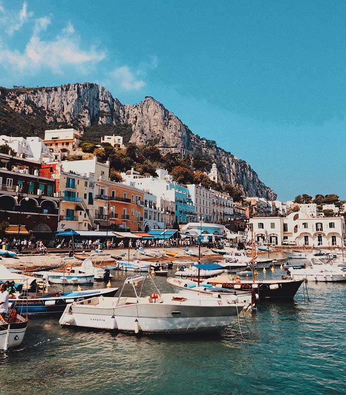 Capri, Italy's busy harbor