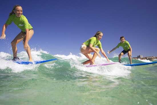 Surfing at Bondi Beach in Australia. Photo by Tourism Australia.