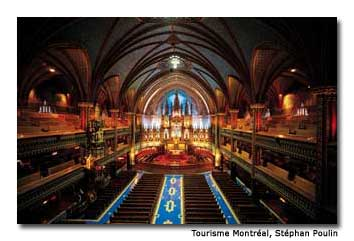Notre-Dame de Montréal Basilica, which dates to 1672, is a top attraction.