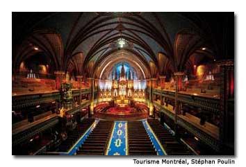 Notre-Dame de Montréal Basilica, which dates to 1672, is a top attraction.