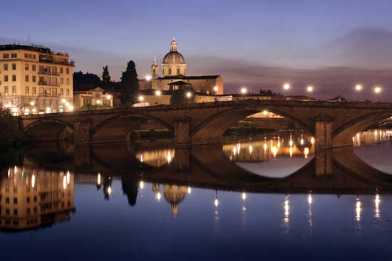 Florence, Italy, is a top honeymoon destination.