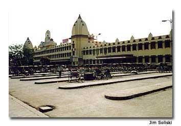 Waiting for the train in Varanasi, India.