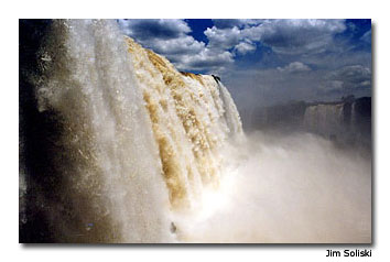 The amount of water that pours from the falls is immense.