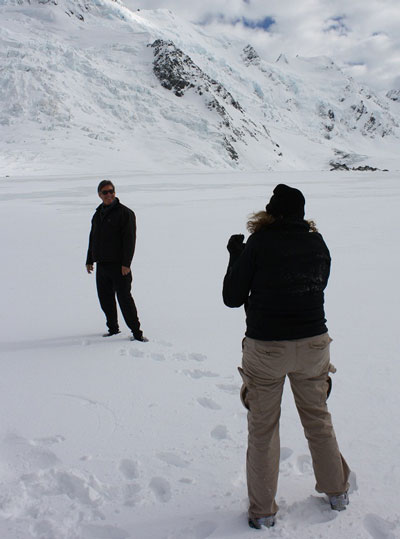 Walking on the Tasman Glacier