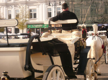 A carriage driver waits for passengers in Krakow, Poland.