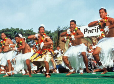 Dancers at the Pacific Islander Festival in San Diego, California.