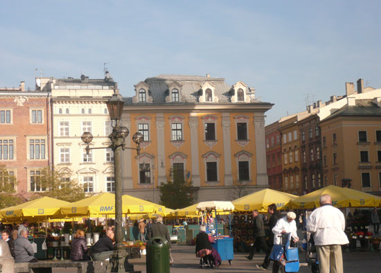 The Old Town Square is the heart of Krakow, Poland.