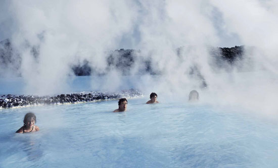 Soaking in Iceland's top attraction, the Blue Lagoon, is a relaxing way to end our vacation. Photo by Icelandair.