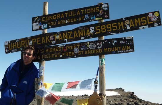 Andrew McCarthy fulfilling a lifelong dream to ascend Mount Kilimanjaro.