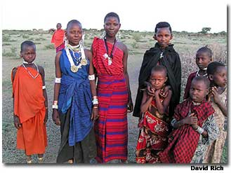A group of girls in their traditional clothes.